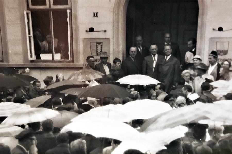 Willy Brandt in Kappeln (12.08.1961)