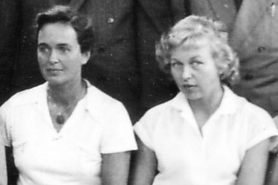 Ruth Ziese und Gerda Panknin (1955)