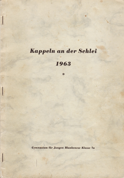 Klassenfahrt nach Kappeln 1963