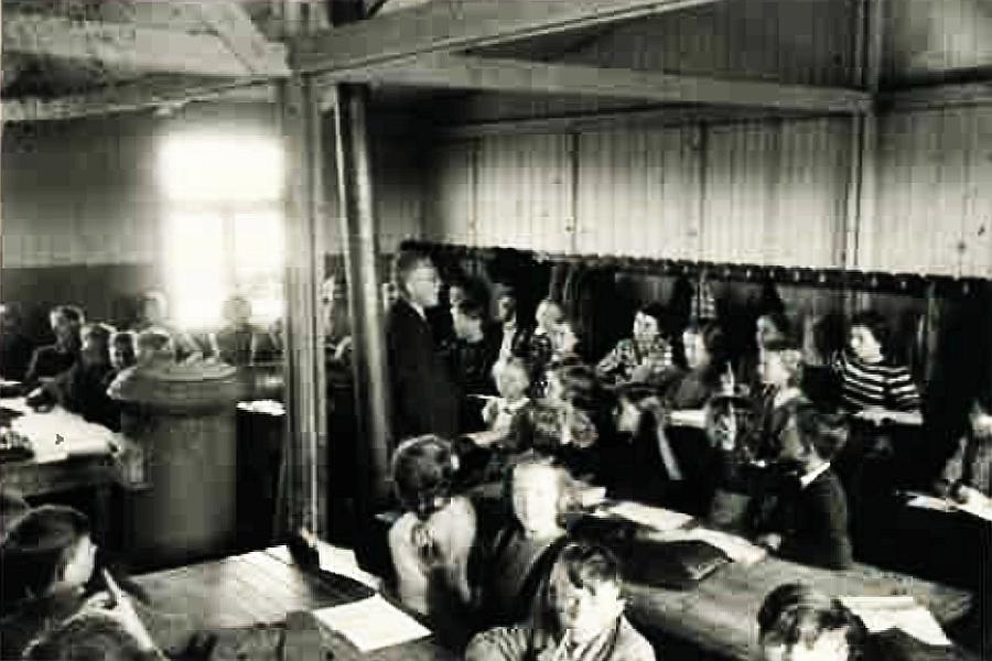 Letzter Blick in den Klassenraum