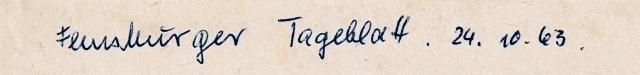 Flensburger Tageblatt vom 24. Oktober 1963