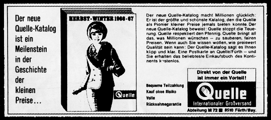 QUELLE-Katalog 1966/67