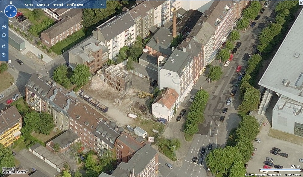 Kiel - Rathausstraße 11 - Screenshot: Microsoft Virtual Earth (2007)