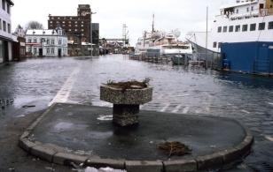 Kappeln - Hochwasser - Foto: Fritz Reinhardt (08.02.1983)