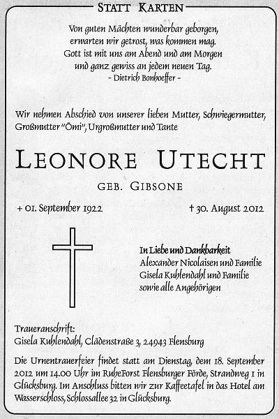 Flensburger Tageblatt vom 14.09.2012