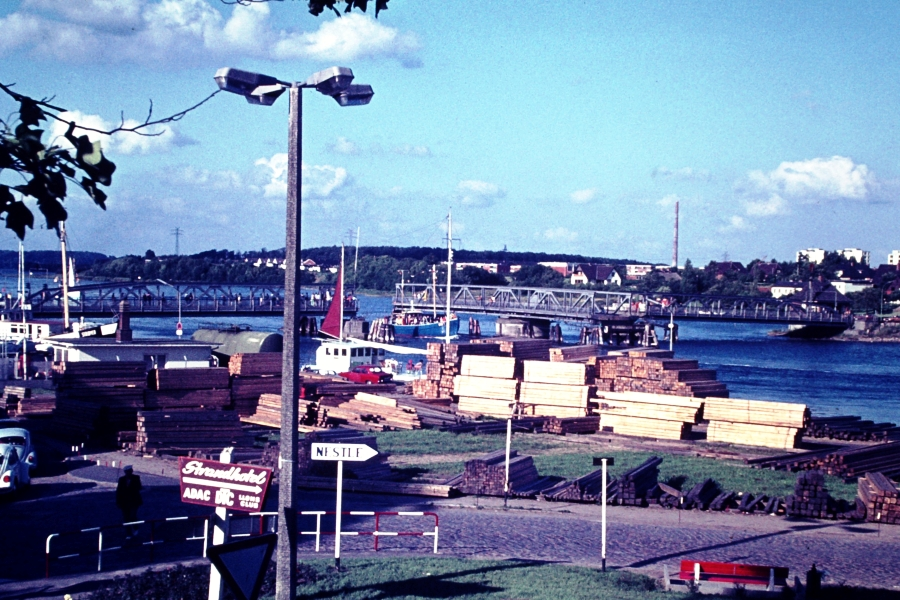 Kappeln - Südhafen - Foto: Heino Küster (70er-Jahre)
