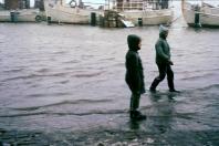 Kappeln - Hochwasser - Foto: Walter Stöckel (Ende 50er-Jahre)