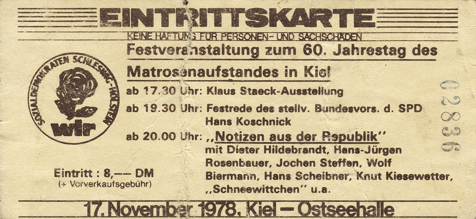 60 Jahre Matrosenaufstand - Festveranstaltung 1978