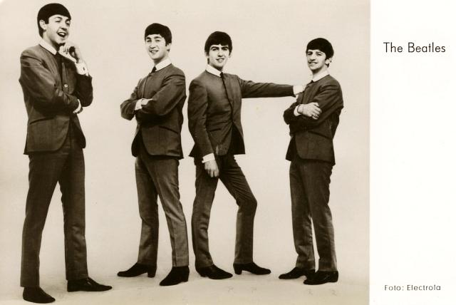 Beatles-Autogrammkarte von Eckehard Tebbe