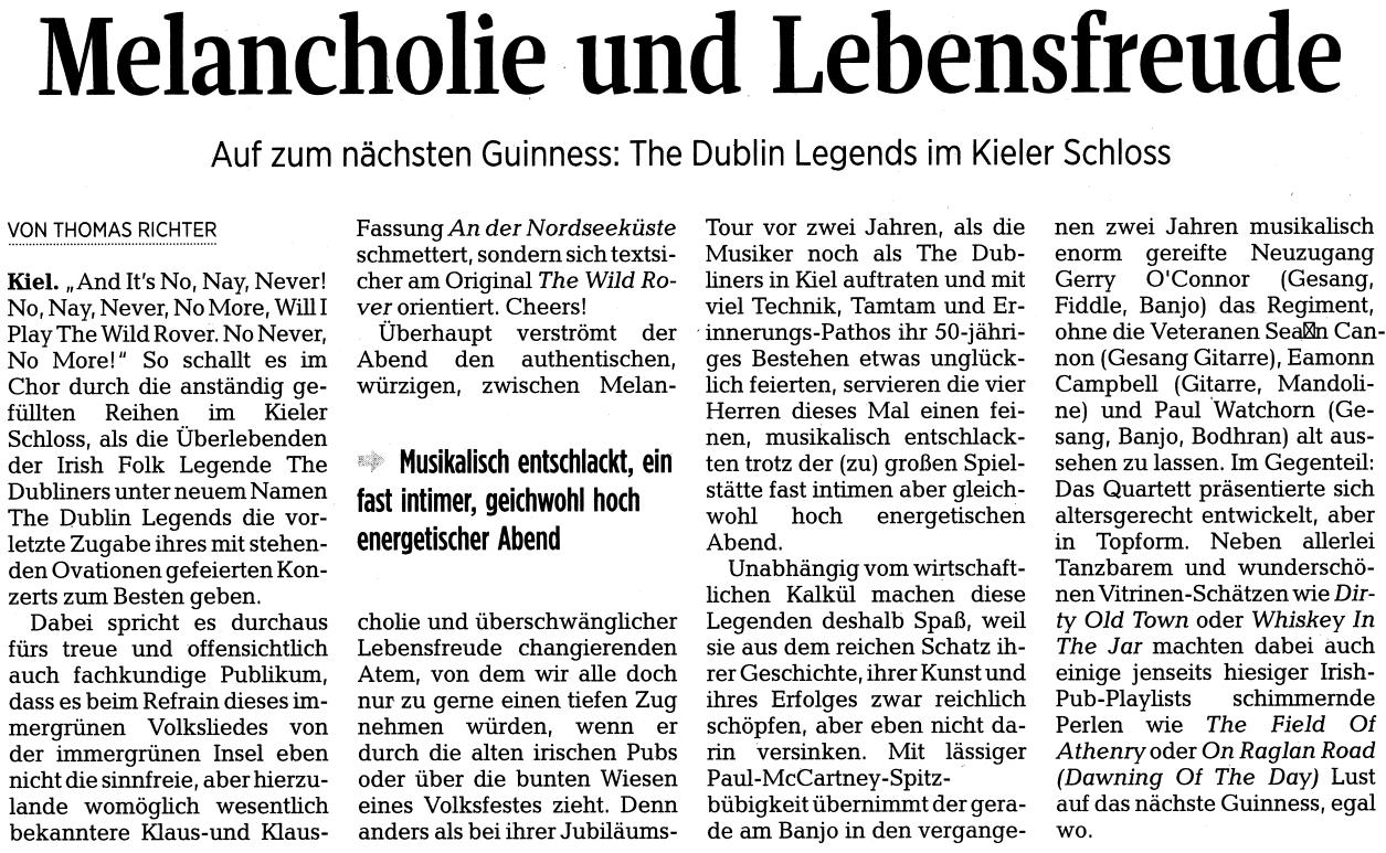 Dublin Legends Kiel 2015