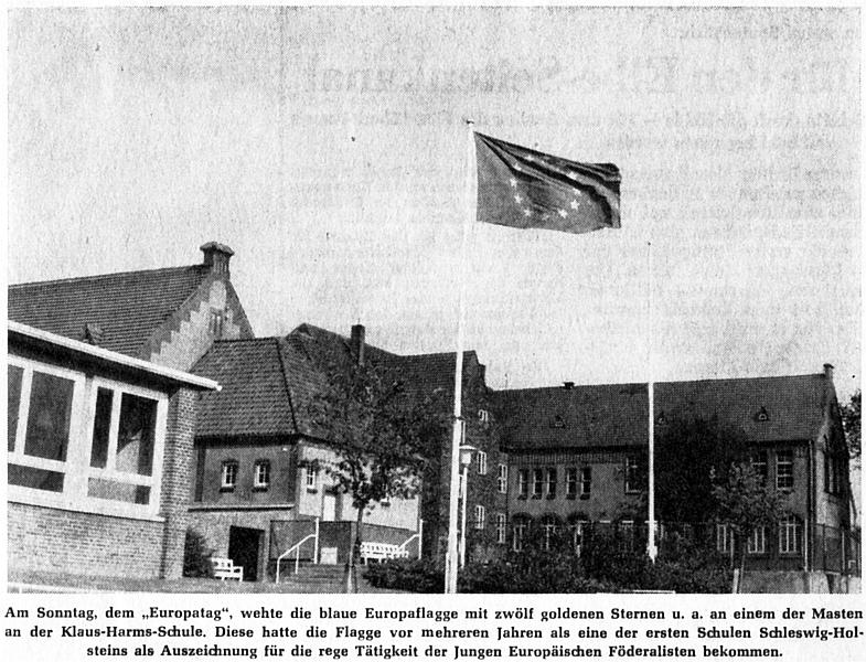 Klaus-Harms-Schule - Europatag - Foto: Manfred Rakoschek (5. Mai 1968)