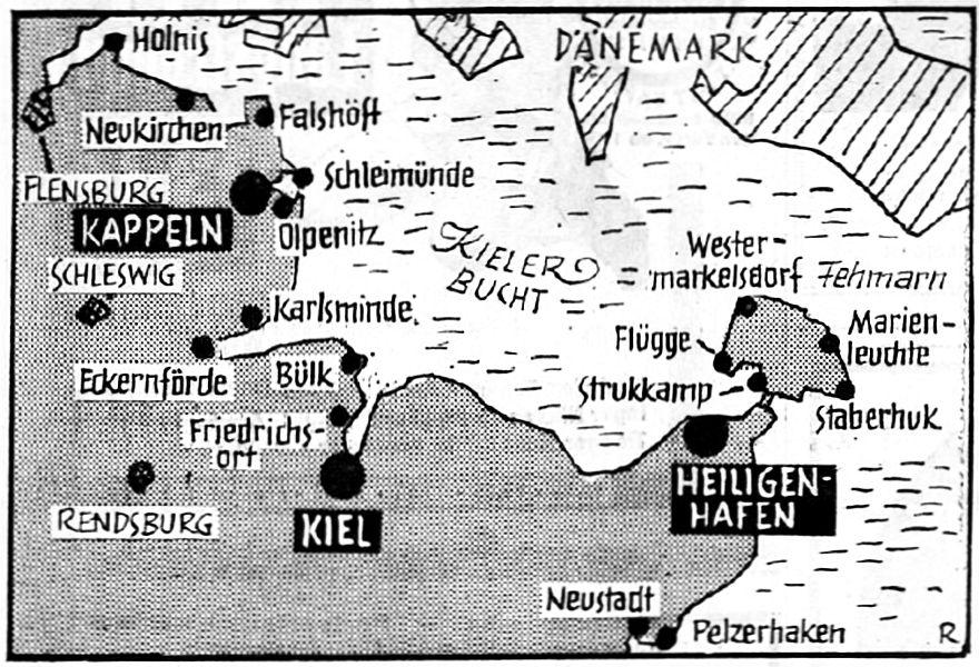 Leuchttürme an der Ostseeküste - Hamburger Abendblatt vom 14.08.1969