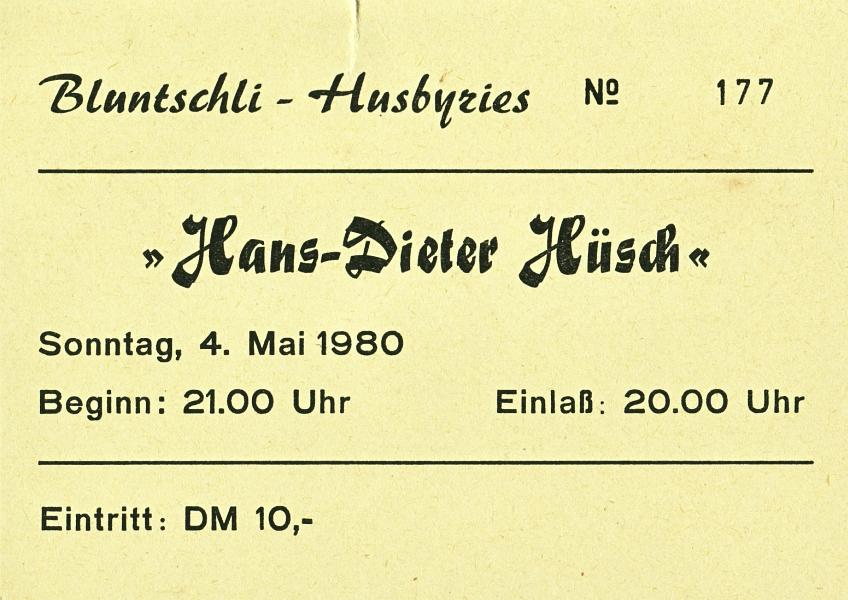 Bluntschli  - Eintrittskarte 1980