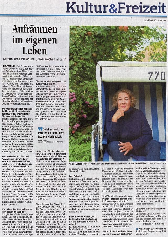 Kieler Nachrichten vom 30. Juni 2020