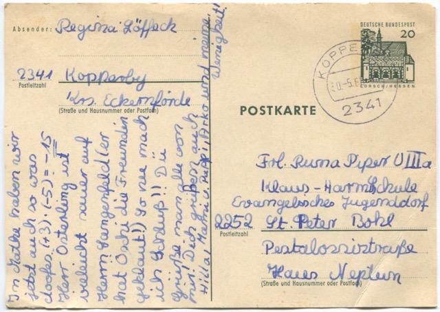 Postkarte 1968