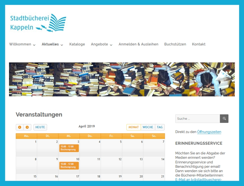 Stadtbücherei aktuell: Büchersprung
