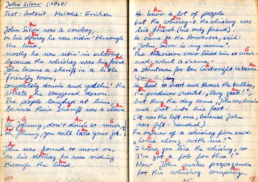 Achims Songbook - John Silver (1969)