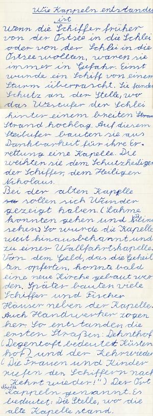 Heimatkundebuch 1958 - Wie Kappeln entstanden ist