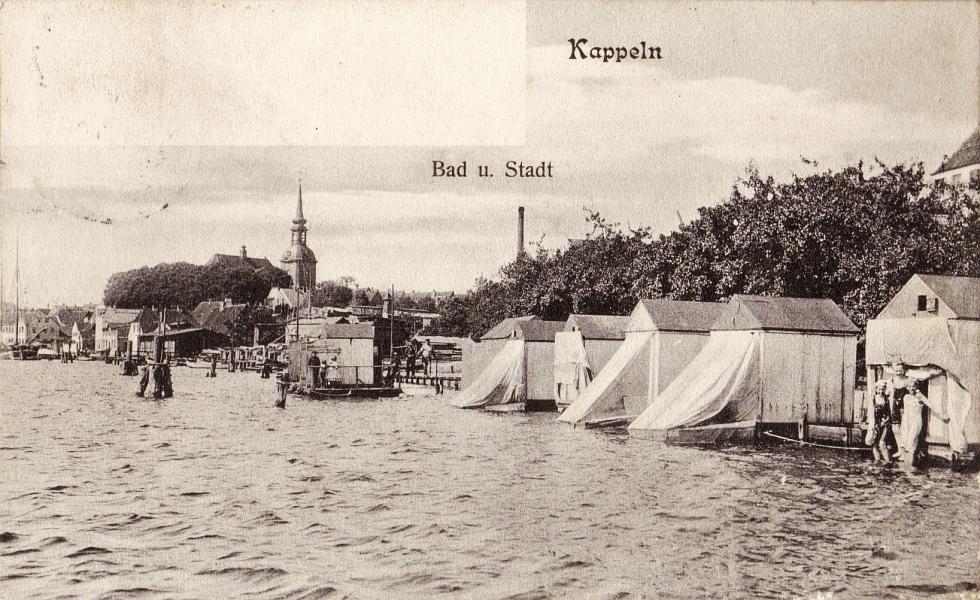 Kappeln - Badeanstalt von Johannes Rieper (1906)
