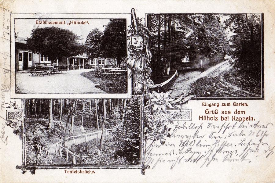 Hüholz - Ansichtskarte von 1914