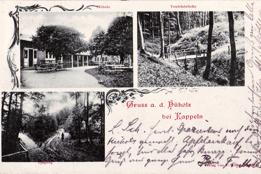Hüholz - Ansichtskarte von 1899