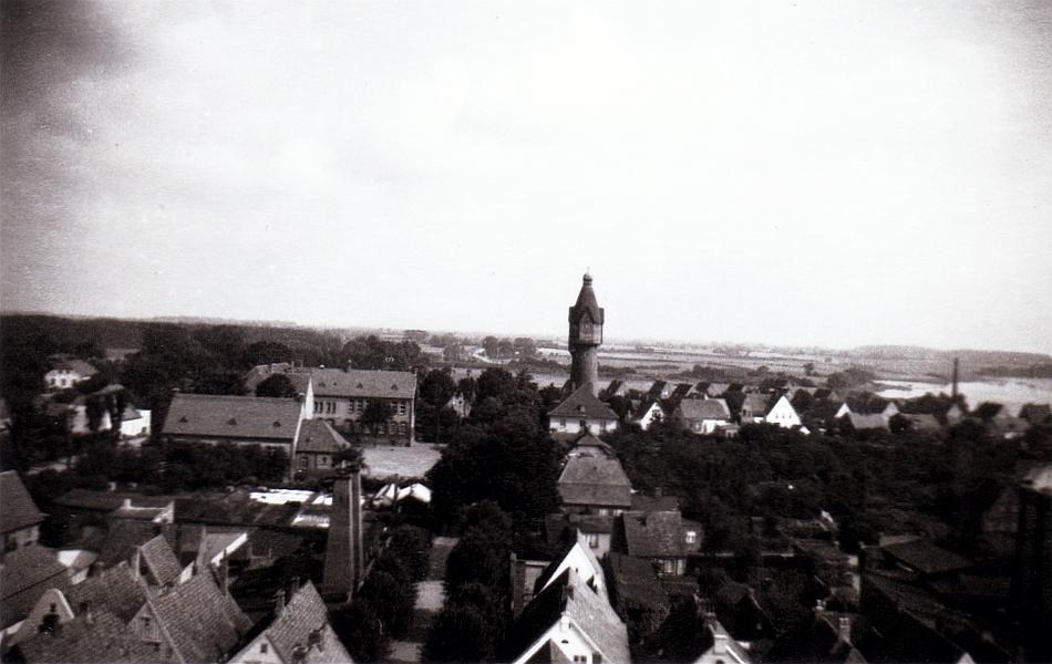 Kappeln - Rundblick vom Kirchturm - Foto: Elefriede Weber (Sommer 1957)