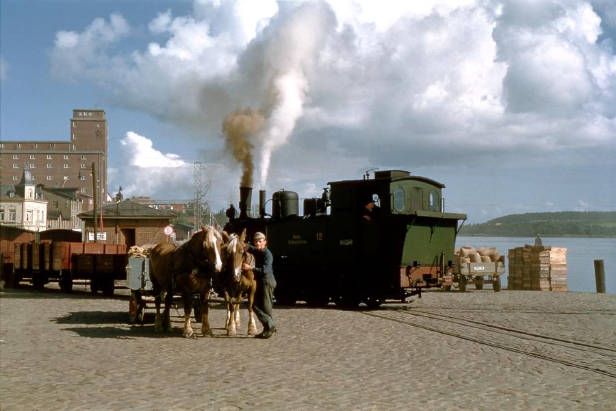 Kappeln - Nordhafen - Foto: Fritz Reinhardt (1957)