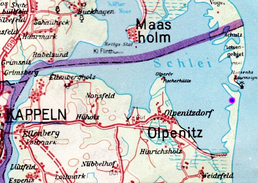 Kartenausschnitt (50er-Jahre)