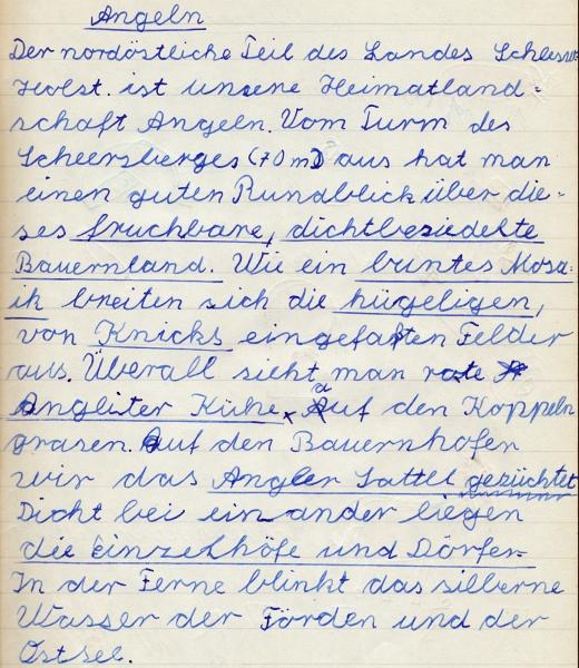 Heimatkundebuch 1958 - Angeln