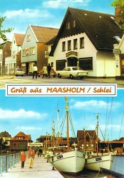 Maasholm - Ansichtskarte von 1972