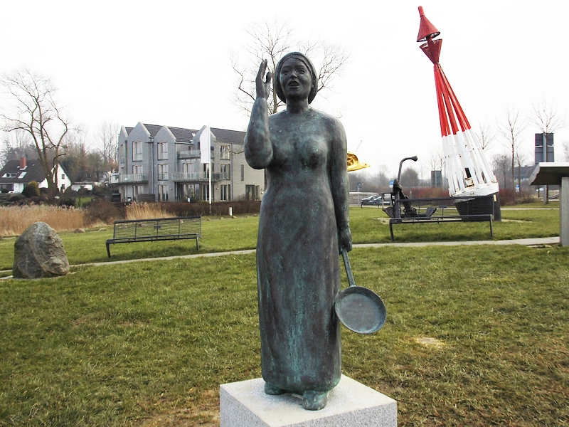 Kappeln - Bronzene Fischerin - Foto: Michaela Fiering (19.02.2018)