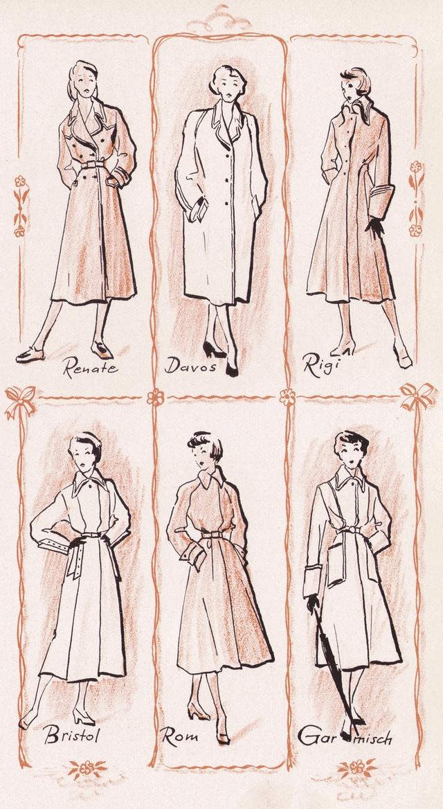 Liening-Mäntel 1945-1950 (Illustration 1950)
