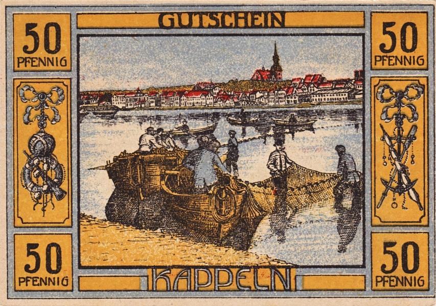 Kappeln - Notgeld 1920 - 50 Pfennig (Rückseite)