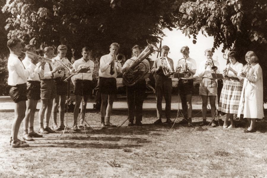 Kappeln - Posaunenchor - Foto: Konrad Reinhardt (1958)
