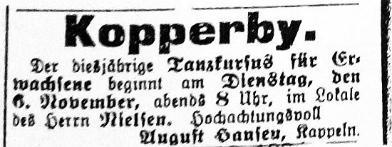 Schhlei-Bote - Anzeige vom 31.10.1906