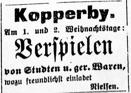 Schhlei-Bote - Anzeige vom Dezember 1907