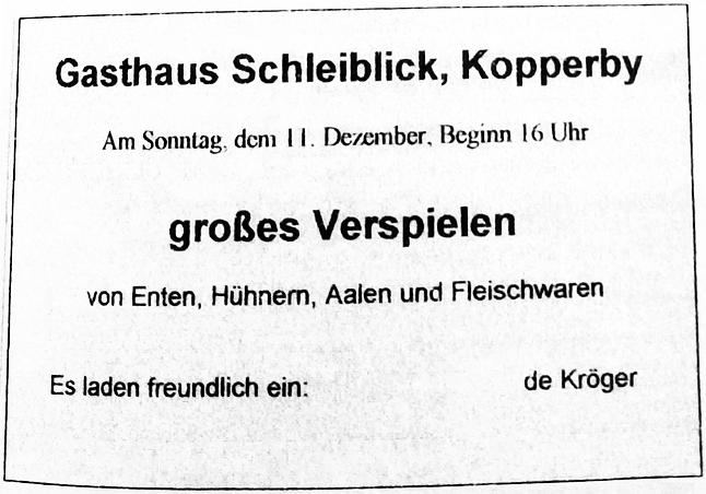 Schhlei-Bote - Anzeige vom 10.12.1960