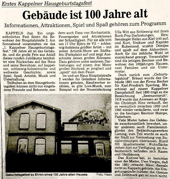 Hospitalstraße 2 (Schlei-Bote 1991)
