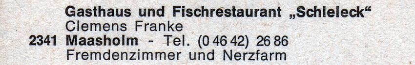 """Maasholm - """"Schleieck"""" (1973)"""