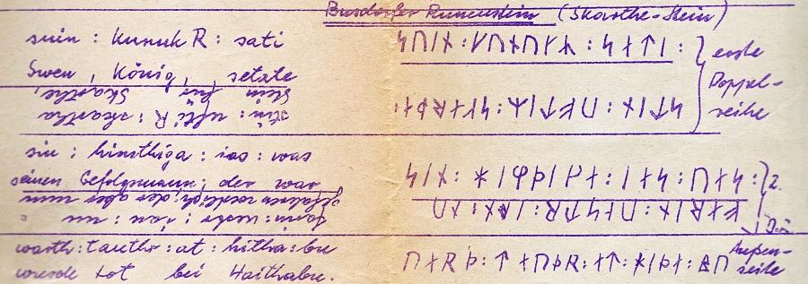 Skarthestein - Hektographie von Dr. Schnoor (1962)