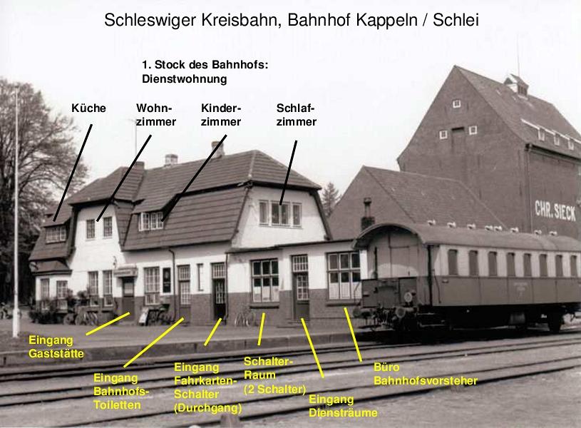 Kappeln - Bahnhof Schleswiger Kreisbahn - Text: Heino Küster