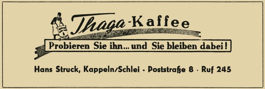 """Hans Struck (Thams & Garfs) - Anzeige von 1956 aus """"Rotstift"""" Nr. 1"""