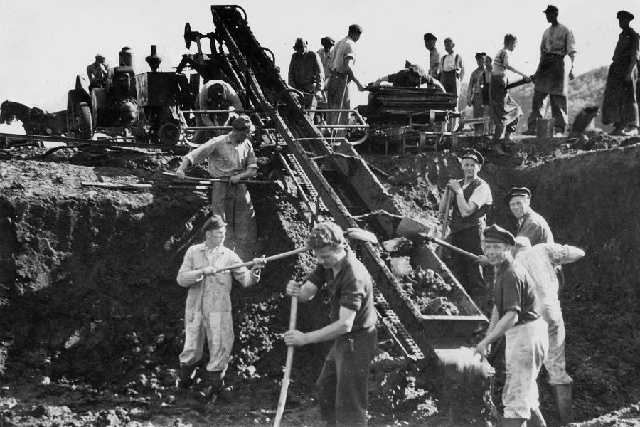 Kappeln - Torfgewinnung um 1950