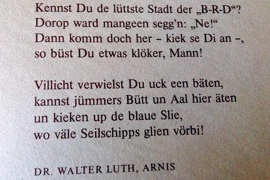 Dr. Walter Luth, Arnis