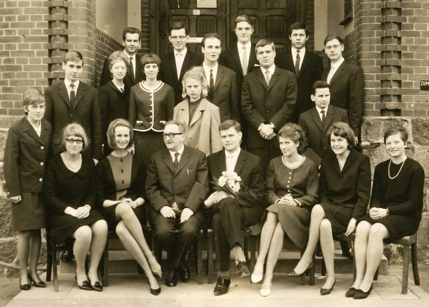 Abi 1966 – Dr. Hans Bürgin (OIs), Dieter Rackow (OIm)