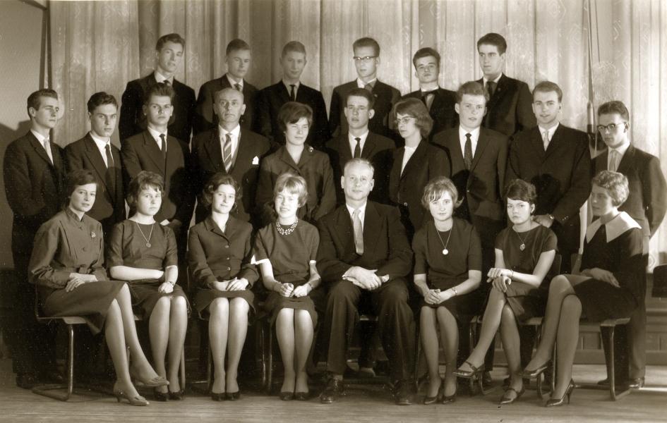 Klaus-Harms-Schule - Abitur 1961 (Foto von Konrad Reinhardt)