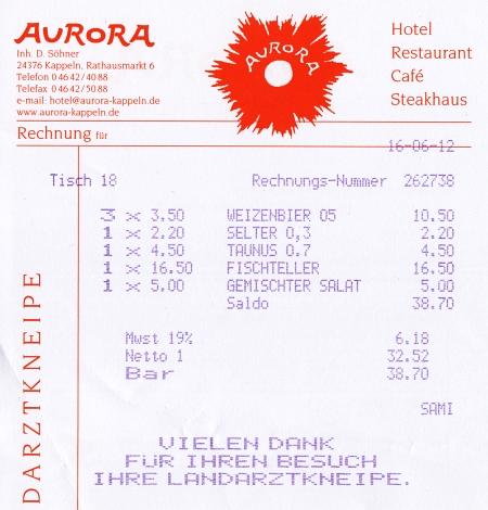 Aurora-Rechnung 2012