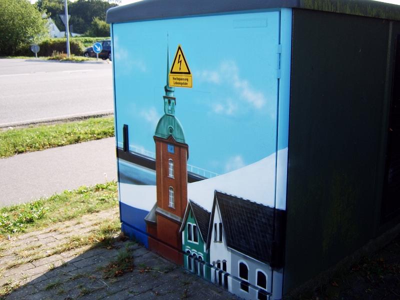 Kappeln - Ortsnetzstation Schoolstieg - Foto: Michaela Bielke (06.09.2013)