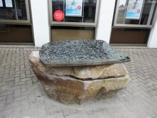Kappeln - Stadtrelief aus Bronze - Foto: Michaela Fiering (27.04.2019)