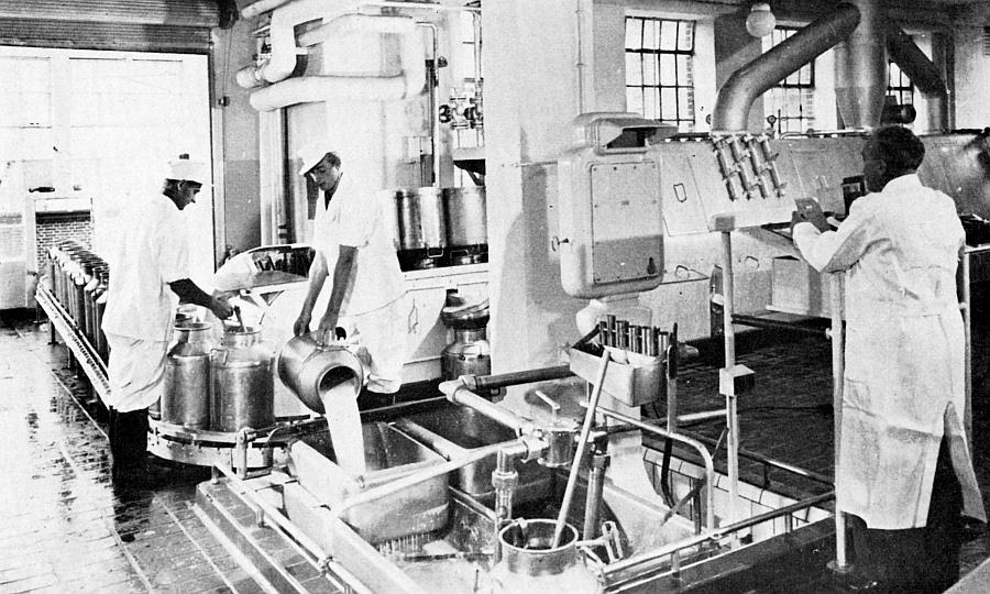 Kappeln - Nestlé-Werk - Frischmilch-Annahme und -Kontrolle (1959)